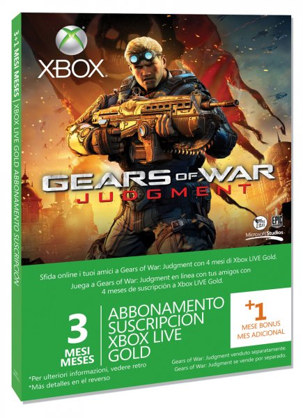 3 Meses + 1 Mes Gears of War: Judgment