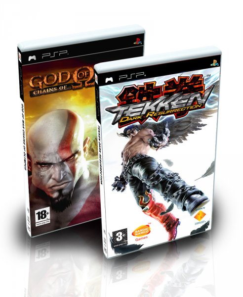 2 En 1 Tekken Dark Resurrection + God of War Chains of Olympus